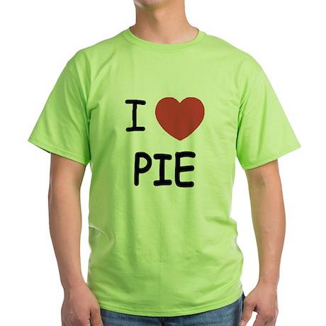 I heart pie Green T-Shirt