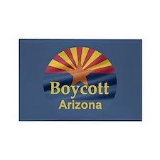 Boycott Arizona Rectangle Magnet
