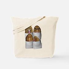 Cute Food face Tote Bag