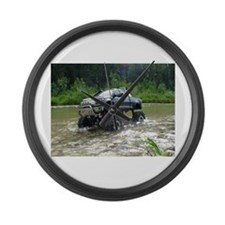 TUNDRA RIVER CROSSING Large Wall Clock