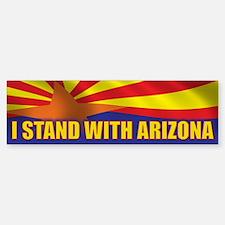 I stand with Arizona Sticker (Bumper)
