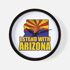 I stand with Arizona Wall Clock