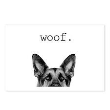 Woof Postcards (package Of 8)