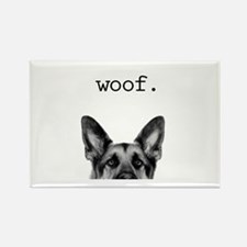 Woof Rectangle Magnet (10 Pack) Magnets
