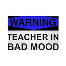 WARNING Teacher 2 Rectangle Magnet (10 pack)