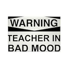 Warning Teacher 3 Rectangle Magnet (10 pack)