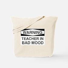 Warning Teacher 3 Tote Bag