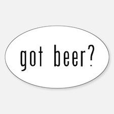 got beer? Sticker (Oval)