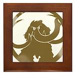 Vintage Woolly Mammoth Framed Tile