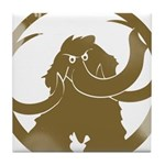 Vintage Woolly Mammoth Tile Coaster