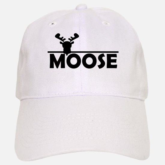 Moose Baseball Baseball Cap