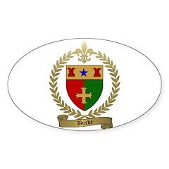 BURKE Family Crest Sticker (Oval)