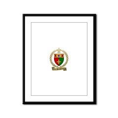 BURKE Family Crest Framed Panel Print