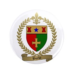 "BURKE Family Crest 3.5"" Button (100 pack)"