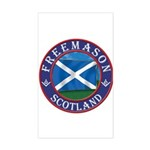 Scottish Masons Sticker (Rectangle)