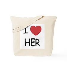 I heart her Tote Bag
