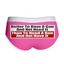 Better to Have a Gun Women's Boy Brief