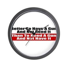 Better to Have a Gun Wall Clock