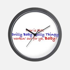 Cute Spilly Wall Clock
