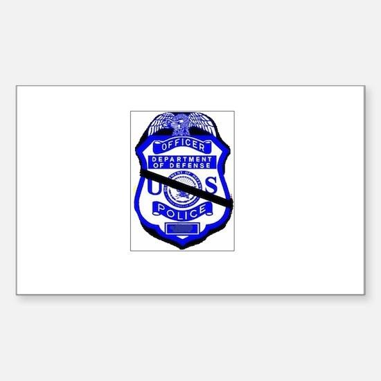 Cute Police memorial Sticker (Rectangle)