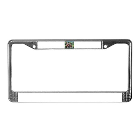 yorkies Lucy & Milly License Plate Frame
