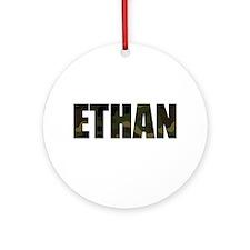 Camo Ethan Ornament (Round)