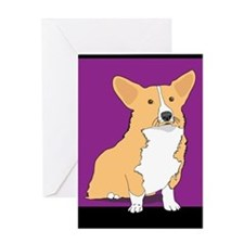 Yellow Corgi Dog Greeting Card