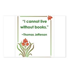 Jefferson On Books Postcards (Package of 8)