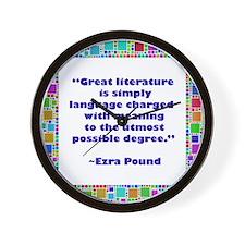 Great Literature Wall Clock