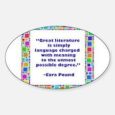 Great Literature Sticker (Oval)