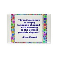 Great Literature Rectangle Magnet
