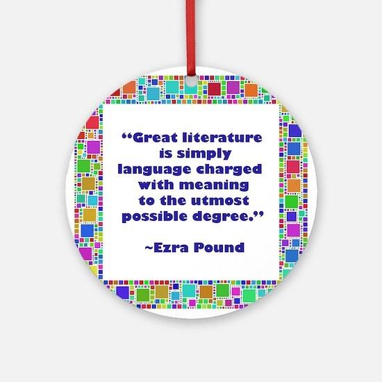 Great Literature Ornament (Round)