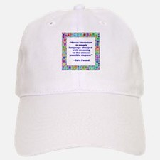 Great Literature Baseball Baseball Cap