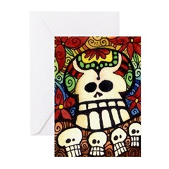 Big Skullie and His Friends Greeting Cards (Pk of