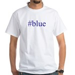 # blue White T-Shirt
