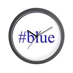 # blue Wall Clock