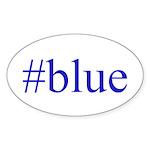 # blue Sticker (Oval 50 pk)