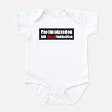 Pro Immigration Anti illegal Infant Bodysuit