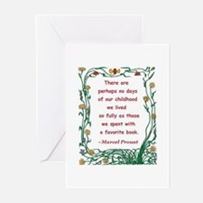 Childhood Spent With A Book Greeting Cards (Pk of