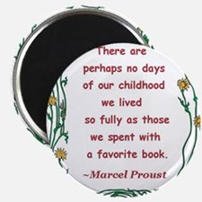 """Childhood Spent With A Book 2.25"""" Magnet (10 pack)"""