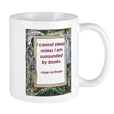 Surrounded By Books Small Mug