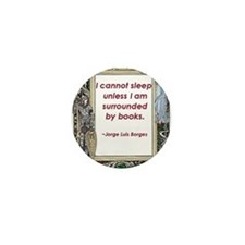 Surrounded By Books Mini Button
