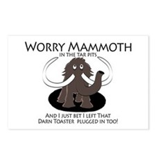 Worry Mammoth Postcards (Package of 8)