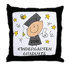 Cute Boy Kindergarten Grad 2010 Throw Pillow