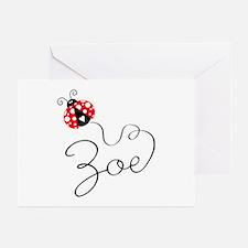 Ladybug Zoe Greeting Cards (Pk of 20)