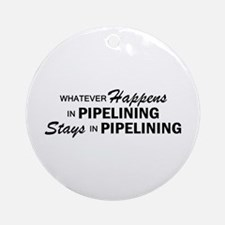 Whatever Happens - Pipelining Ornament (Round)
