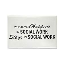 Whatever Happens - Social Work Rectangle Magnet
