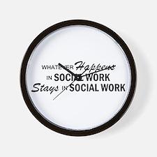 Whatever Happens - Social Work Wall Clock