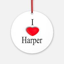 Harper Ornament (Round)