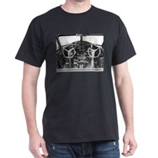 B-17 Cockpit Black T-Shirt